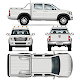 Pickup truck Vector template - GraphicRiver Item for Sale