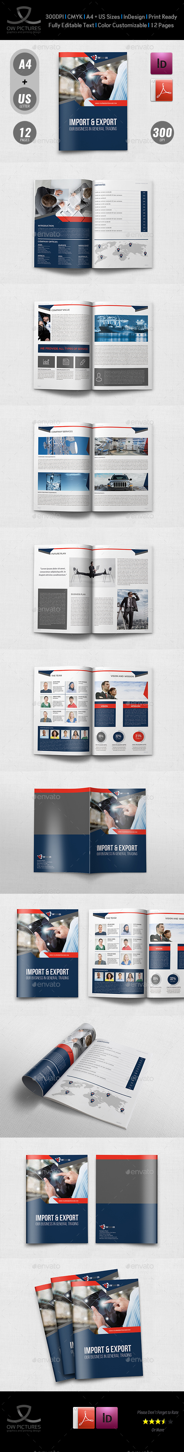Company Profile Brochure Template Vol44 12 Pages By Owpictures