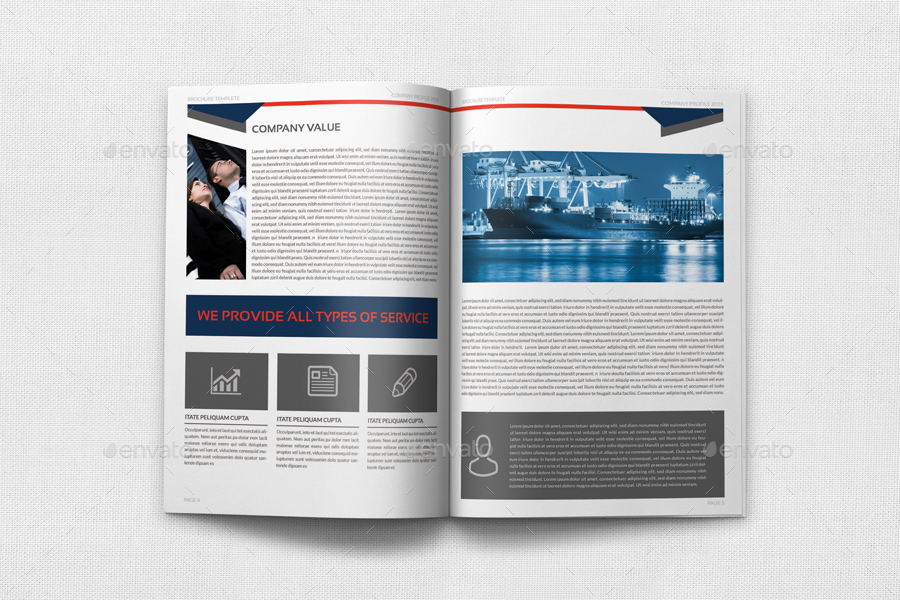 Company Profile Brochure Template Vol Pages By OWPictures - Company profile brochure template