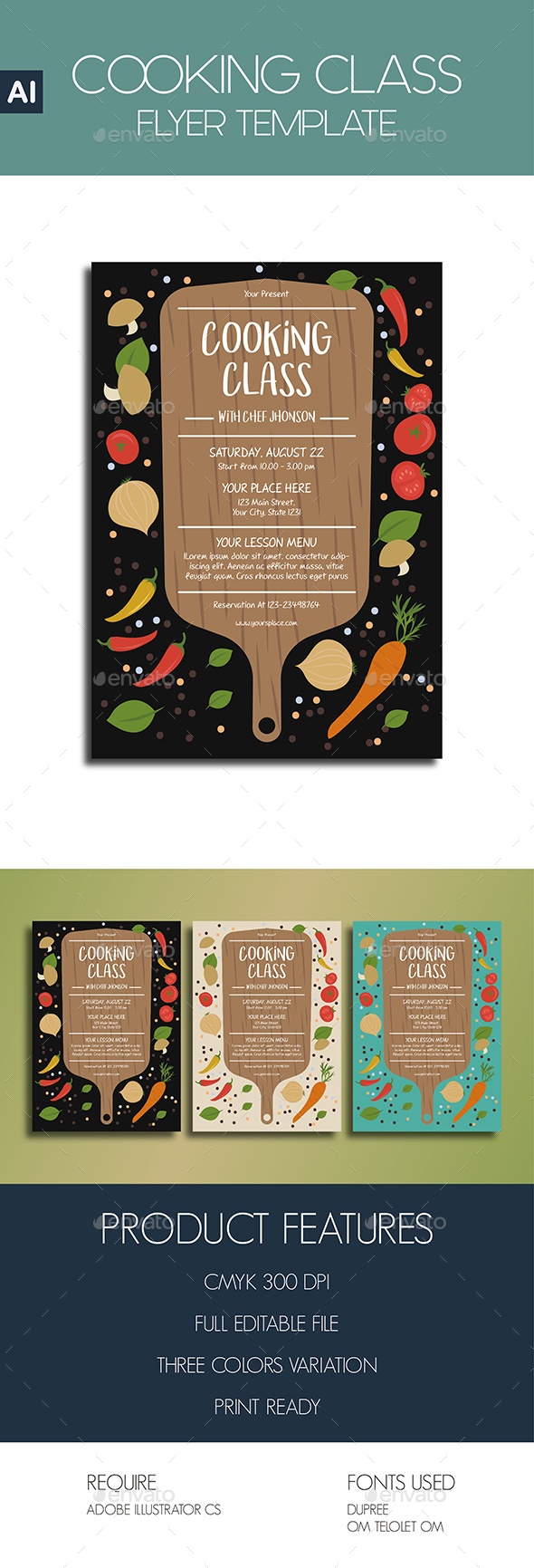 COOKING CLASS Flyer Template - Flyers Print Templates
