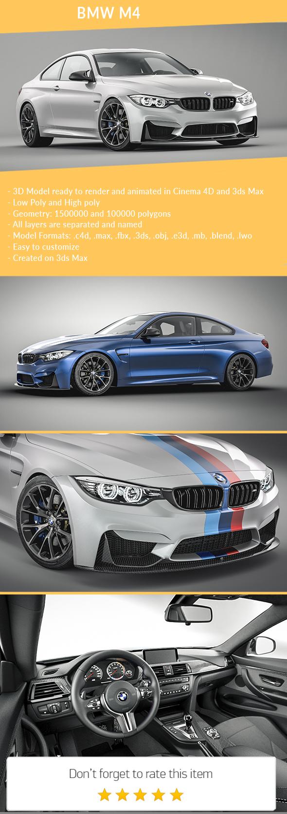 BMW M4 - 3DOcean Item for Sale