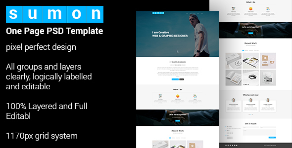 SUMON – Personal Portfolio Website Design Free Download