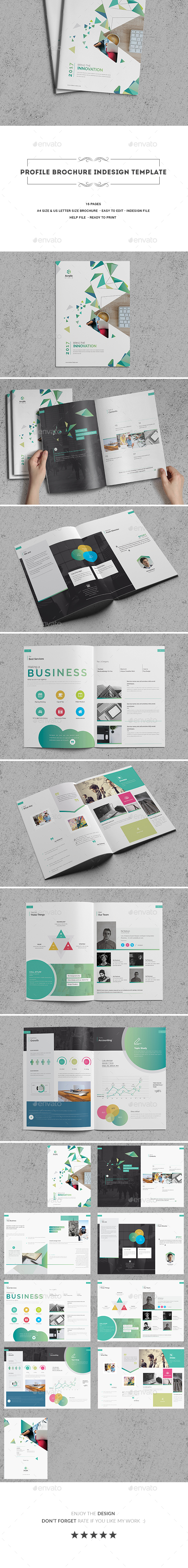 Profile Brochure Indesign Template - Corporate Brochures
