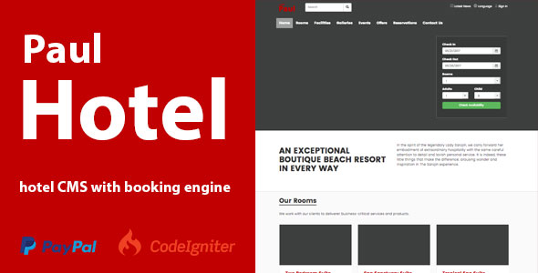 HotelCMS with Booking Engine - CodeCanyon Item for Sale