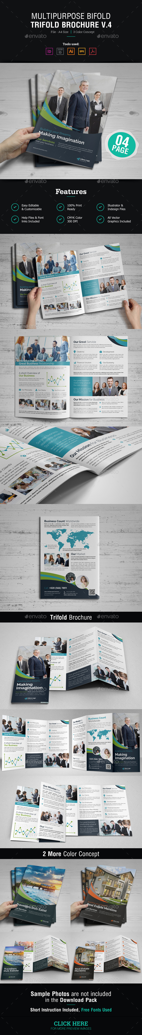 Multipurpose Bifold & Trifold Brochure v.4 - Corporate Brochures