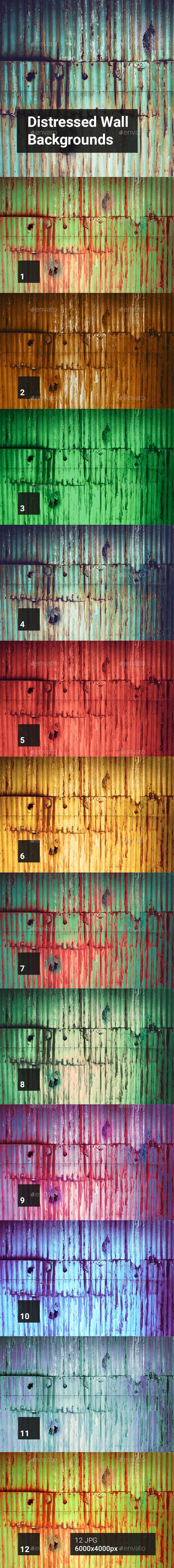 Distressed Wall Backgrounds - Abstract Backgrounds