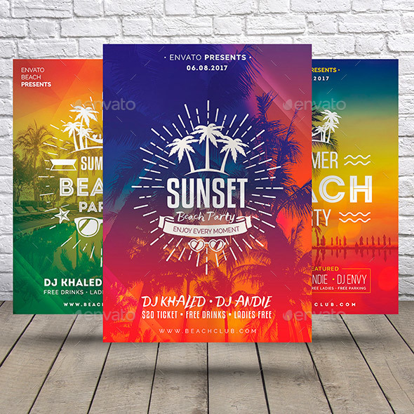 Summer Bundle Flyers Template - Clubs & Parties Events