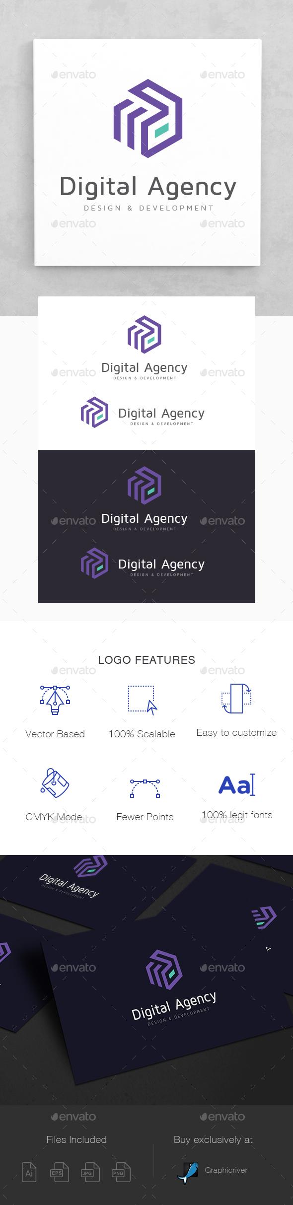 Digital Agency Logo Template - Letters Logo Templates