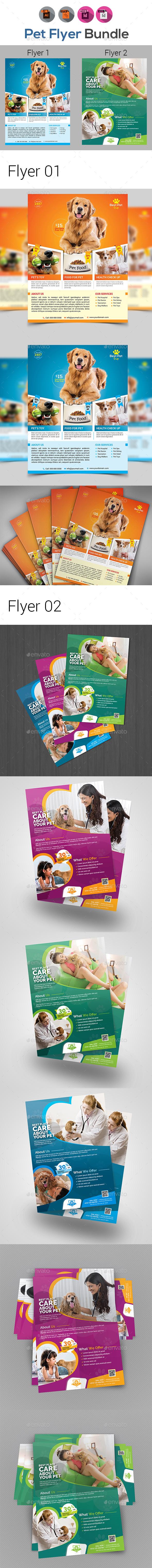 Pets Flyer Template Bundle V3 - Corporate Flyers
