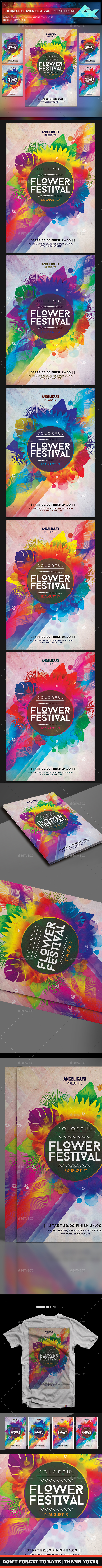 Colorful Flower Festival Flyer Template - Events Flyers