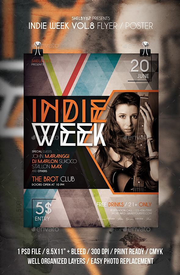 Indie Week Flyer / Poster Vol 8 - Events Flyers