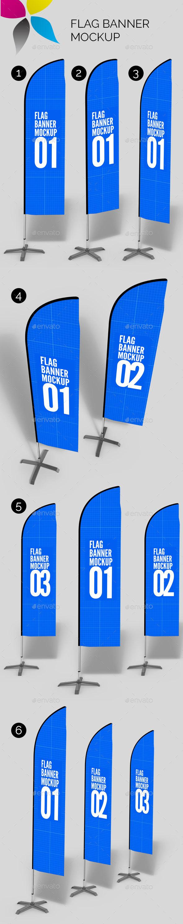 Flag Banner Mockup - Signage Print