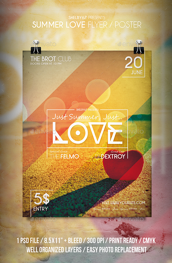 Summer Love Flyer / Poster - Events Flyers