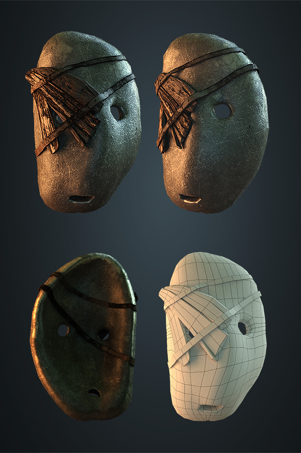 Stone mask - 3DOcean Item for Sale