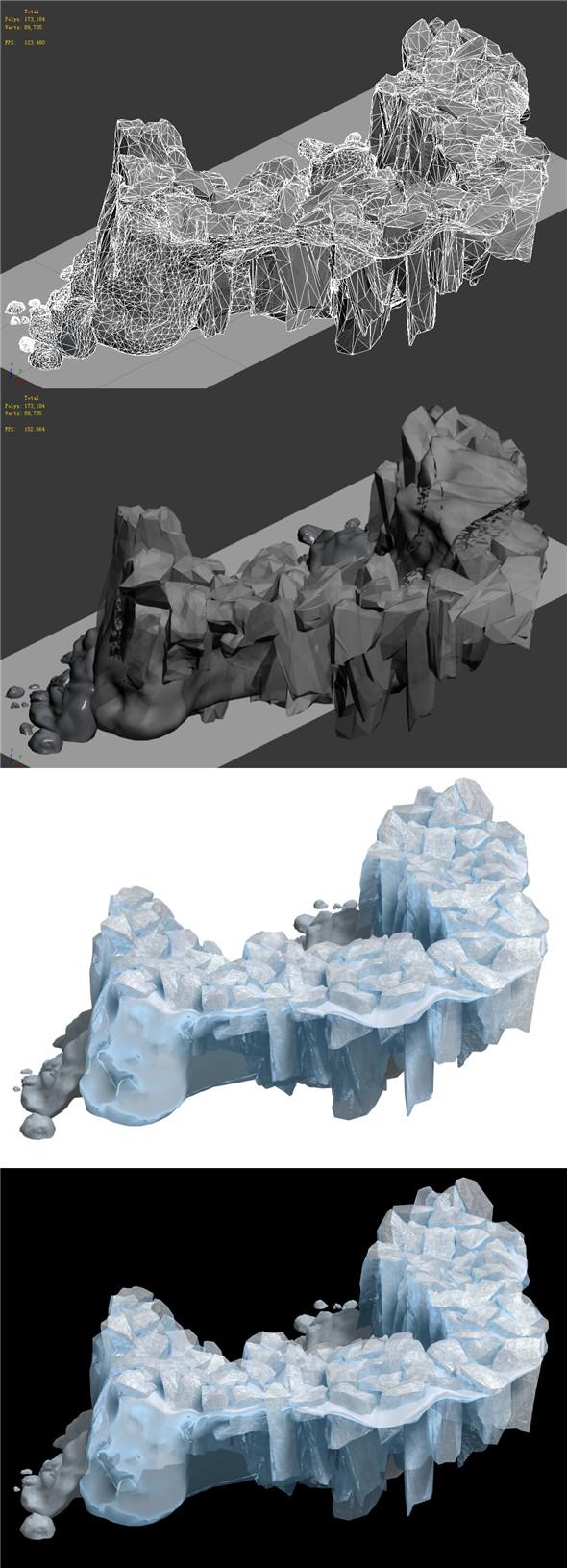 Iceberg - Ice Road Mountain 15 - 3DOcean Item for Sale