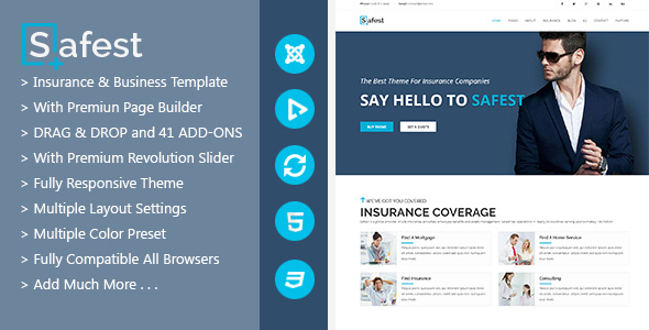 Safest - Insurance Agency & Business Joomla Template - Miscellaneous Joomla