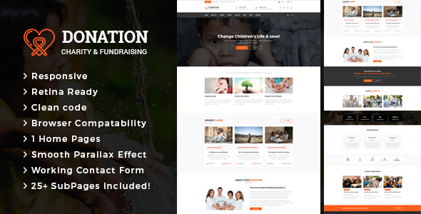 Image of Donation -  Charity & Fund Raising HTML Template