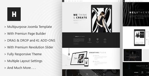 Heli - A Creative Multipurpose Joomla Template - Creative Joomla