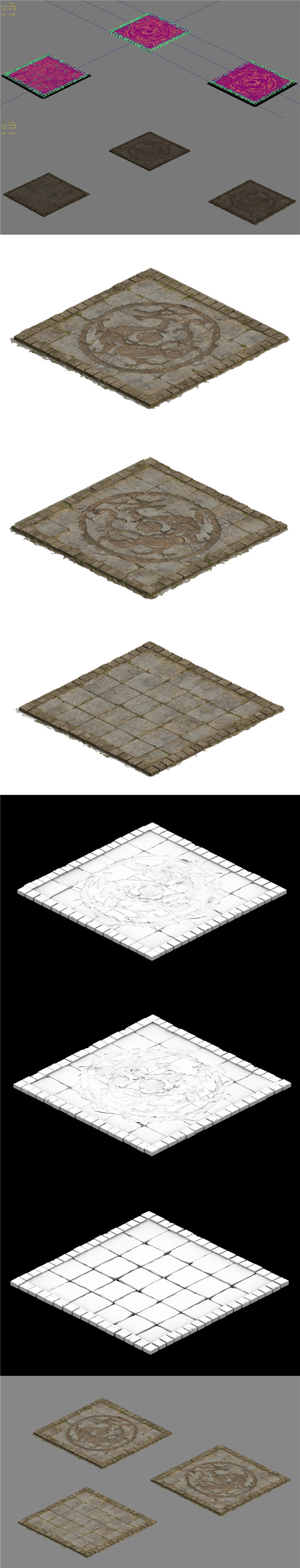 Ground parquet - dragon brick - 3DOcean Item for Sale