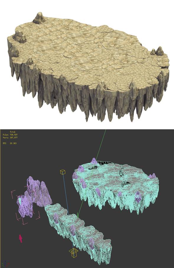 Terrain - stone road - 3DOcean Item for Sale