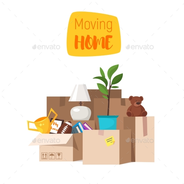Concept for Home Moving - Man-made Objects Objects
