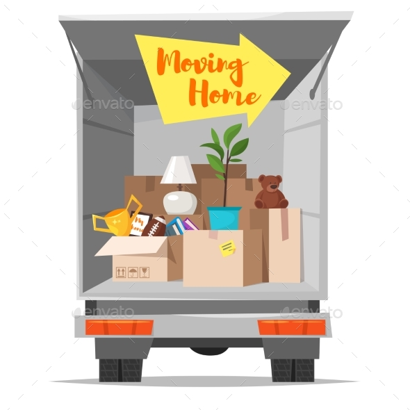 Concept for Home Moving - Miscellaneous Vectors