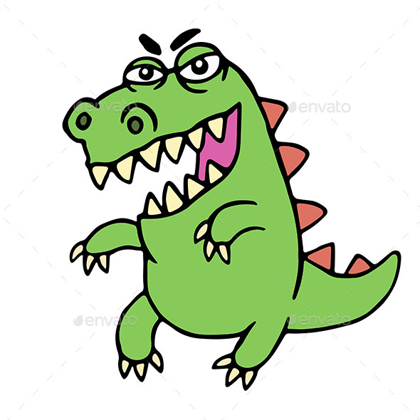 Angry Cartoon Dinosaur - Animals Characters