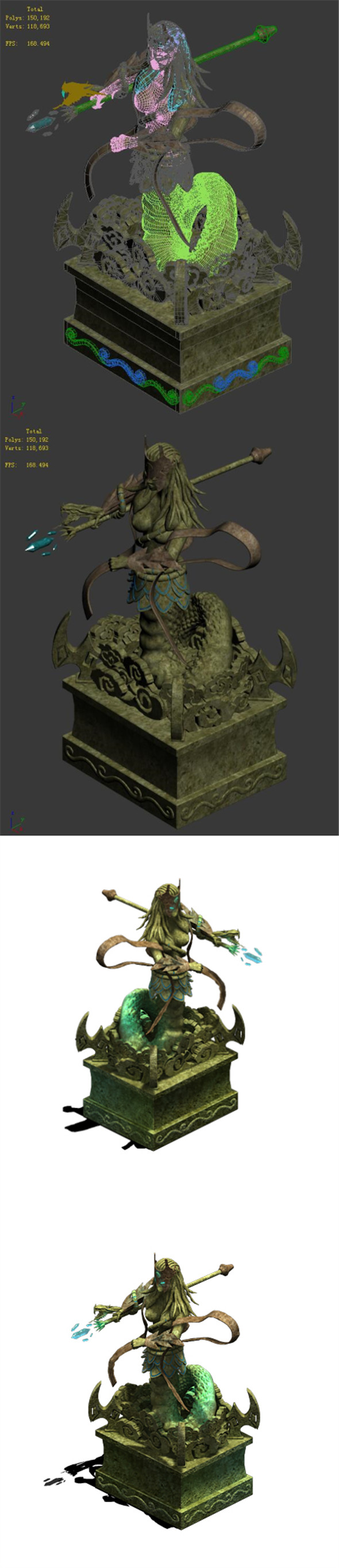 Seabed - dragon statue - 3DOcean Item for Sale
