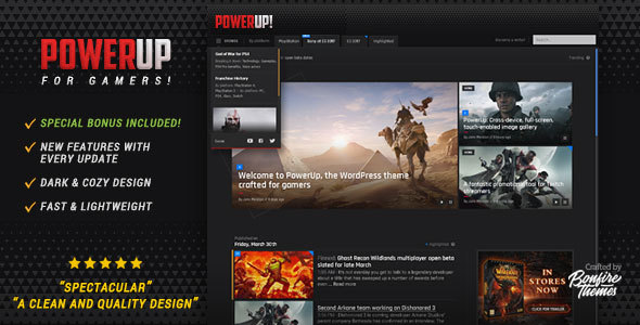 PowerUp - Video Game Theme for WordPress - Technology WordPress