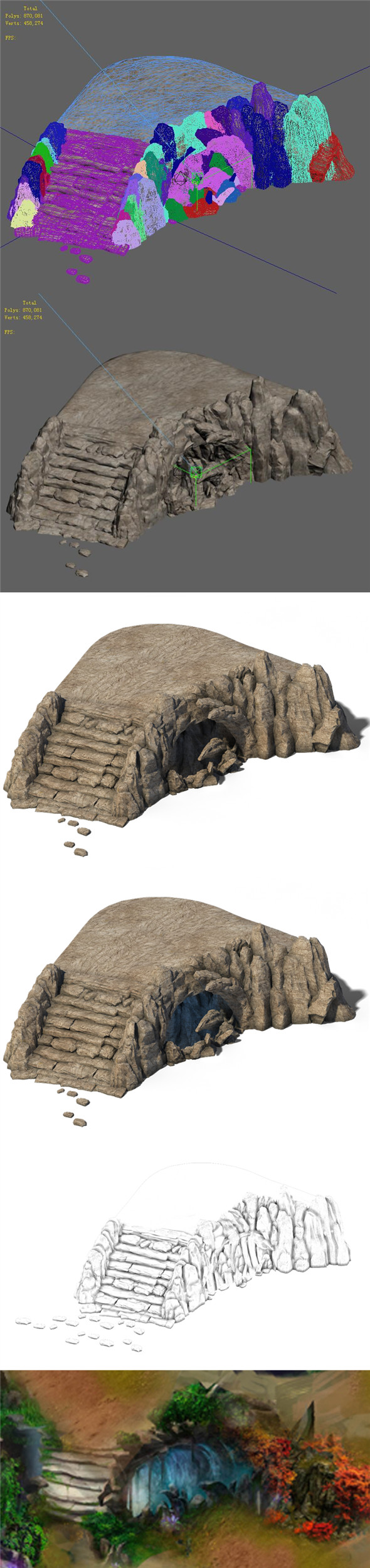 Suburb - Accessories - Huanglongshan steps 02 - 3DOcean Item for Sale