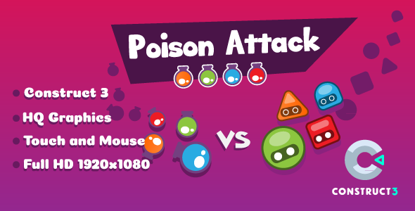 Poison Attack - HTML5 Game (Construct3) - CodeCanyon Item for Sale