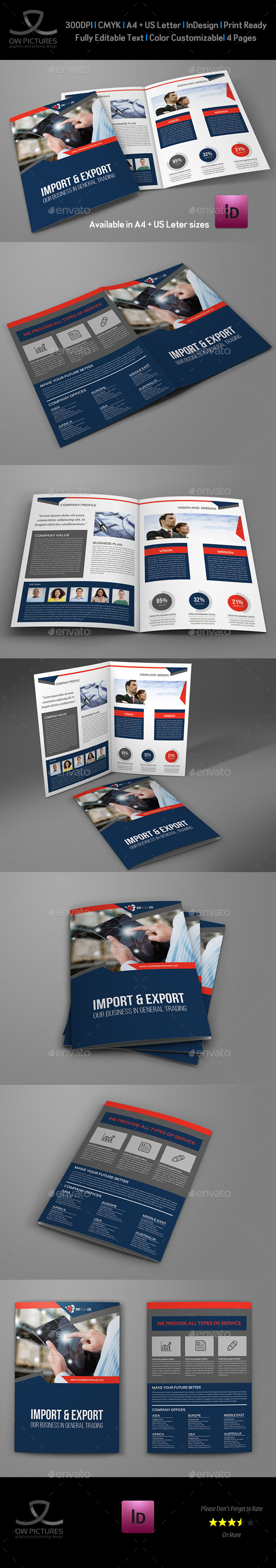 Company Profile Brochure Bi-Fold Template Vol.43 - Corporate Brochures