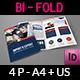 Company Profile Brochure Bi-Fold Template Vol.43