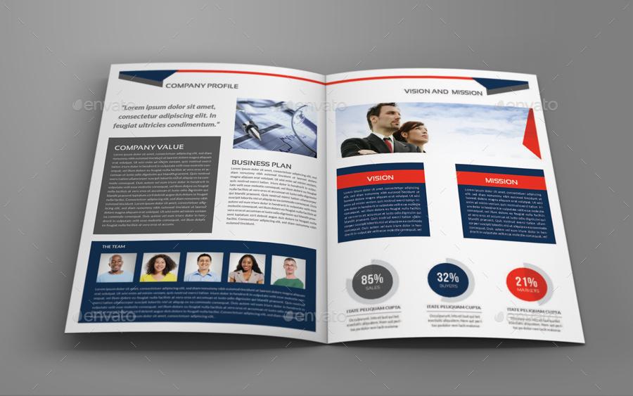 Company Profile Brochure BiFold Template Vol By OWPictures - Company profile brochure template