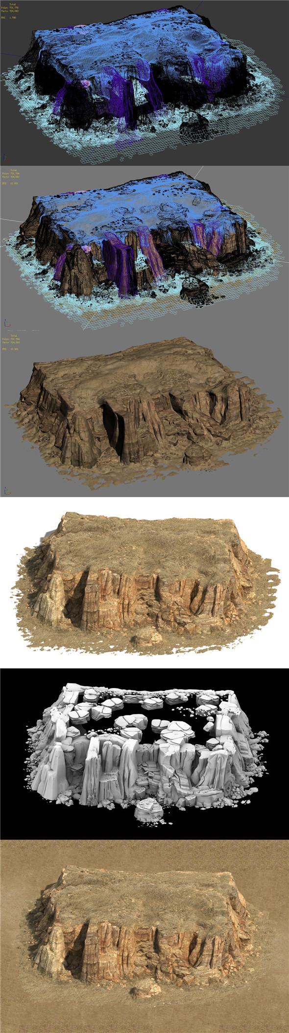 Barracks - Desert - Gobi Mountains - 3DOcean Item for Sale