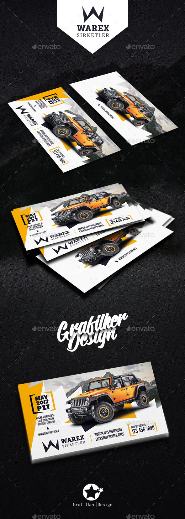Car Sales Business Card Templates by grafilker | GraphicRiver