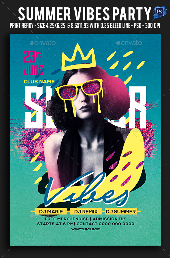 Summer Vibes Party Flyer - Clubs & Parties Events