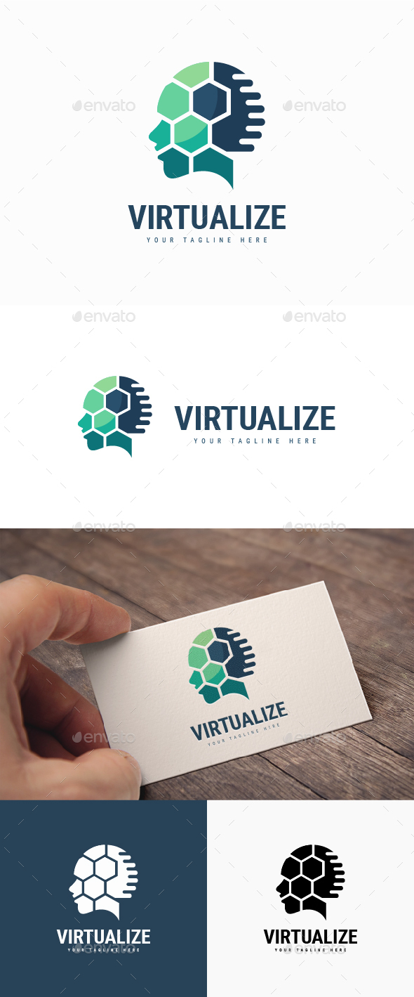 Virtualize Logo - Humans Logo Templates