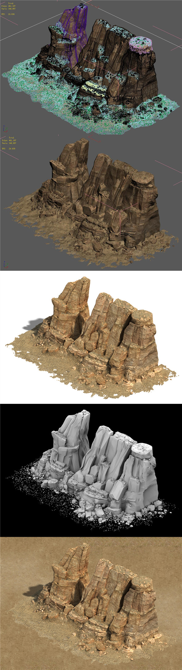 Barracks - Desert - Mountain 01 - 3DOcean Item for Sale