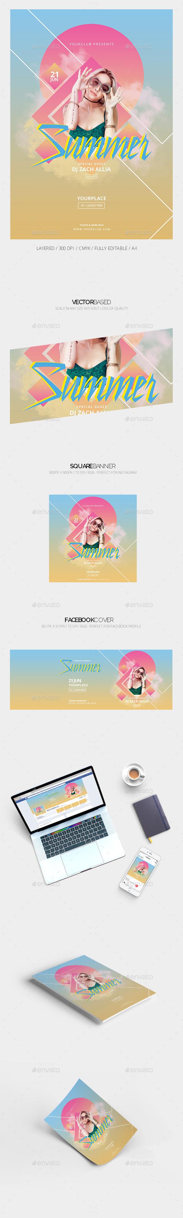 Summer Flyer & Social Media Banner - Events Flyers