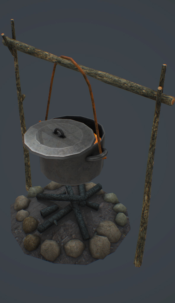 Campfire 3d model - 3DOcean Item for Sale