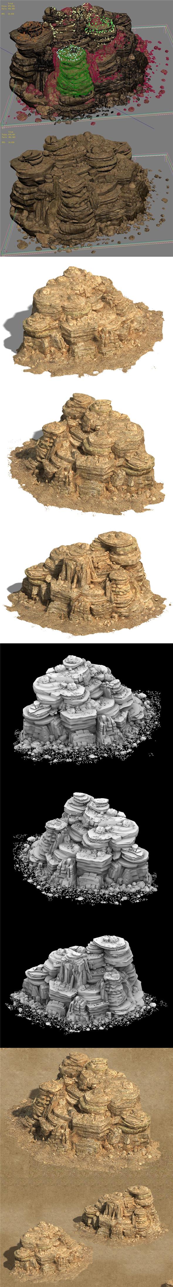 Barracks - Desert - Mountain 04 - 3DOcean Item for Sale