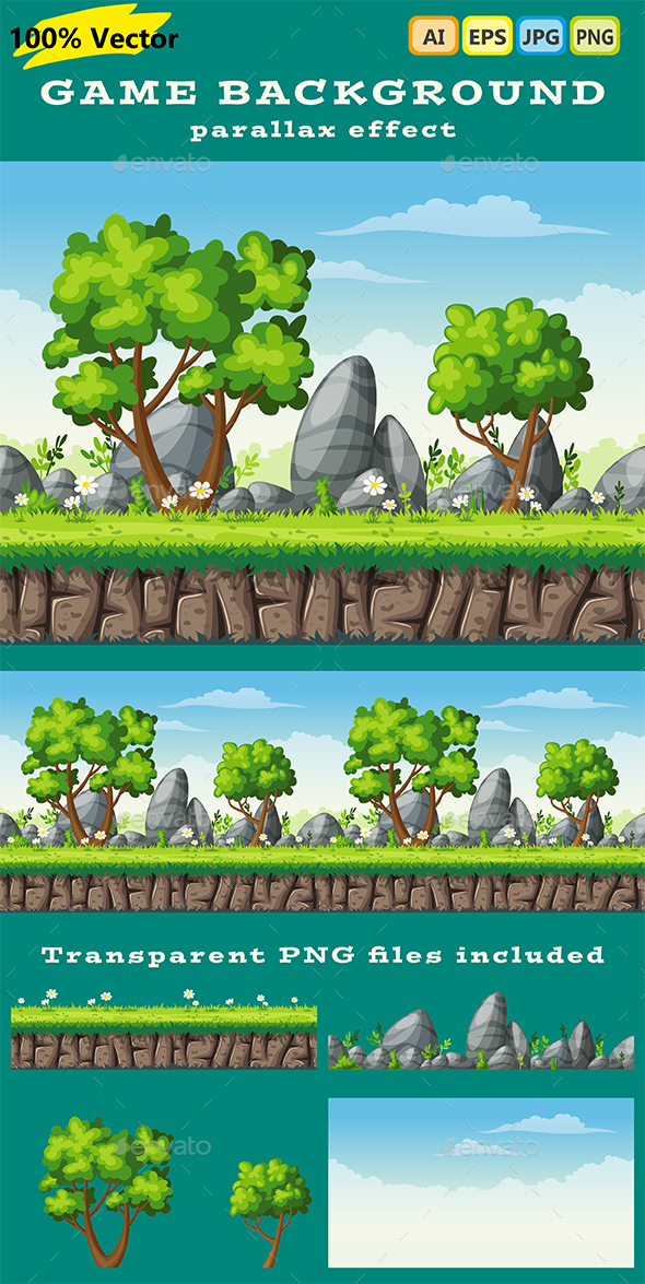 Game Nature Background - Backgrounds Game Assets