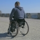Tired Man Disability, Wheelchair Wheels, Difficulty Traveling Wheel Chair on Street, Disabled Man in Nulled