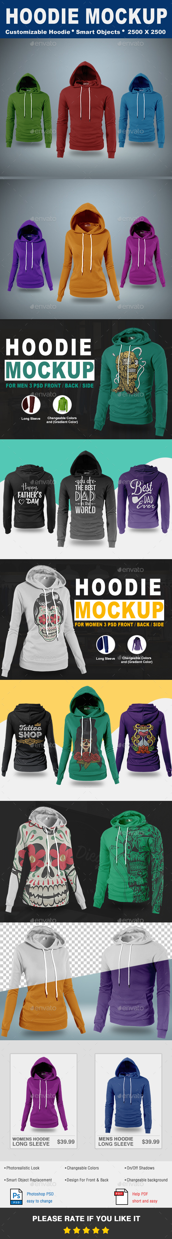 Hoodie Mock-Up Vol.1 - T-shirts Apparel