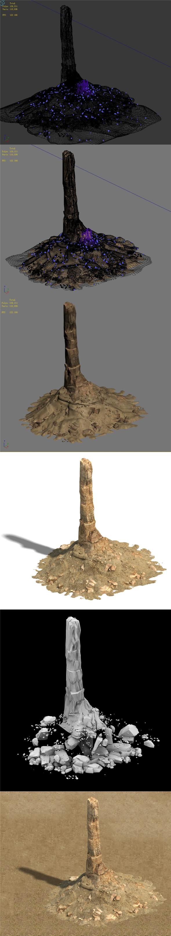 Barracks - desert - one finger mountain - 3DOcean Item for Sale