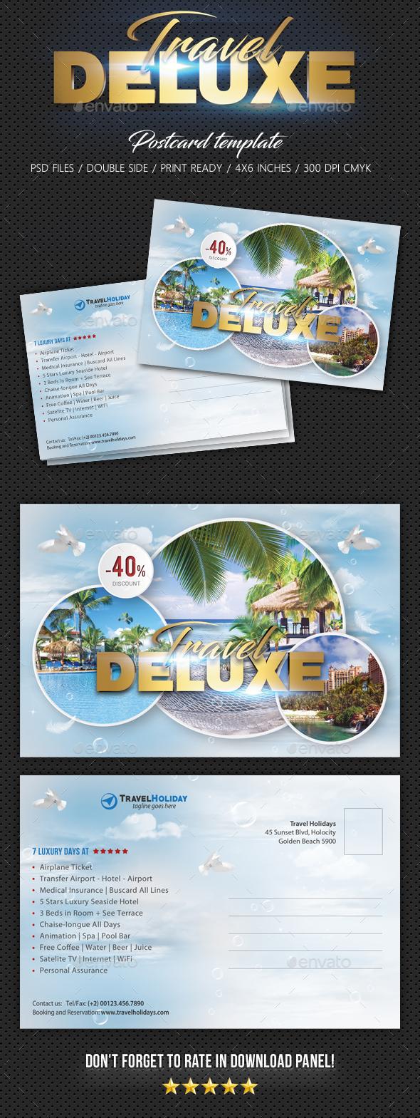 Travel Tour Postcard Template - Cards & Invites Print Templates