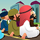Muslims Praying in a Mosque - GraphicRiver Item for Sale