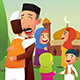 Muslims Celebrating Eid Al Fitr - GraphicRiver Item for Sale