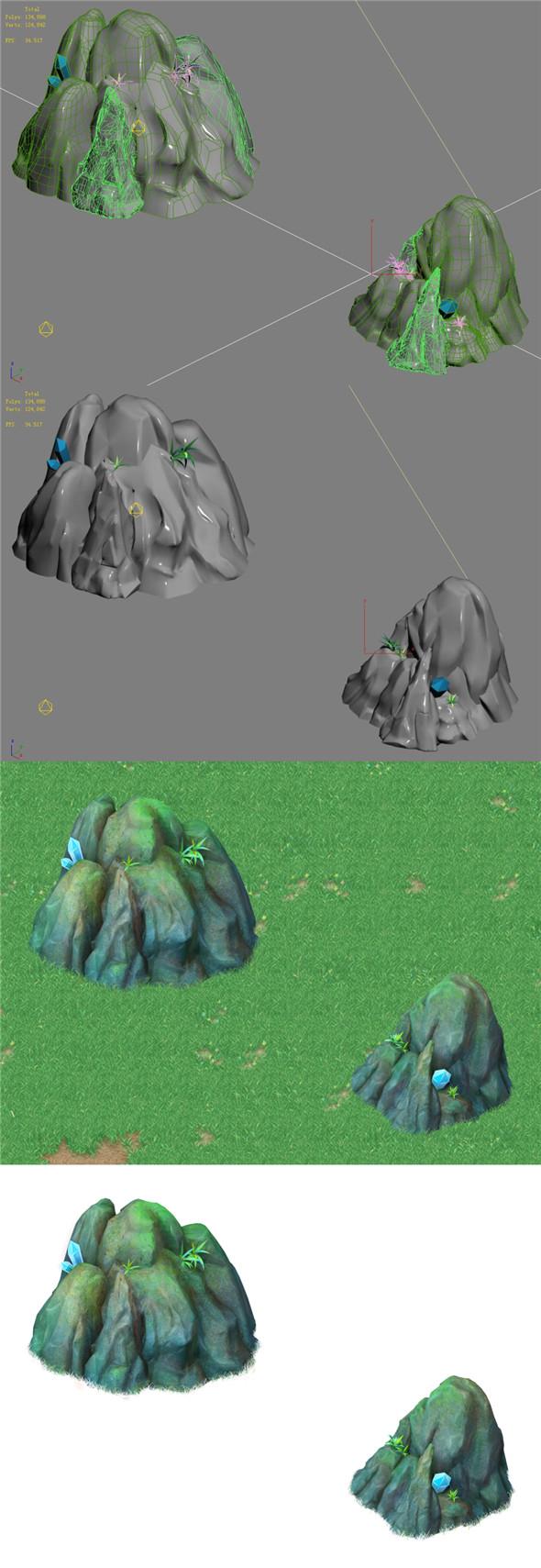Cartoon Sky City - Fake Terrain 02 - 3DOcean Item for Sale